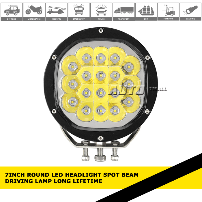 7Inch 24v led truck lights Round LED Headlight Spot Beam Driving light headlight heavy truck volvo led