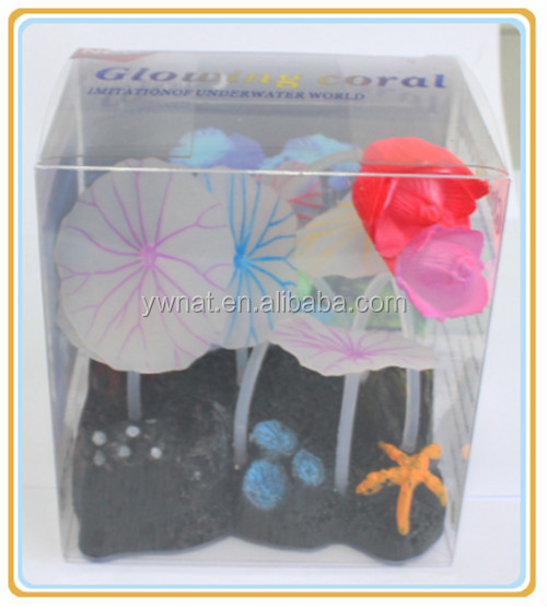 Imitation Growing Coral Aquarium Resin Lotus with flowers for fish tank