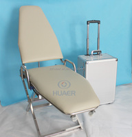 Easy travelling mobile dental chair with dental instrument tray