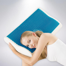Factory cheap high quality Gel Memory Foam Pillow with zipped removable and washable cover