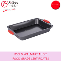 40.5x25.5x5cm Big-sized Roast Baking Pan/Turkey Oven Tray with Silicone Handles