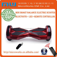 Free shipping two wheels self balancing scooter, smart drifting scooter with LED, hands free balance scooter with bluetooth