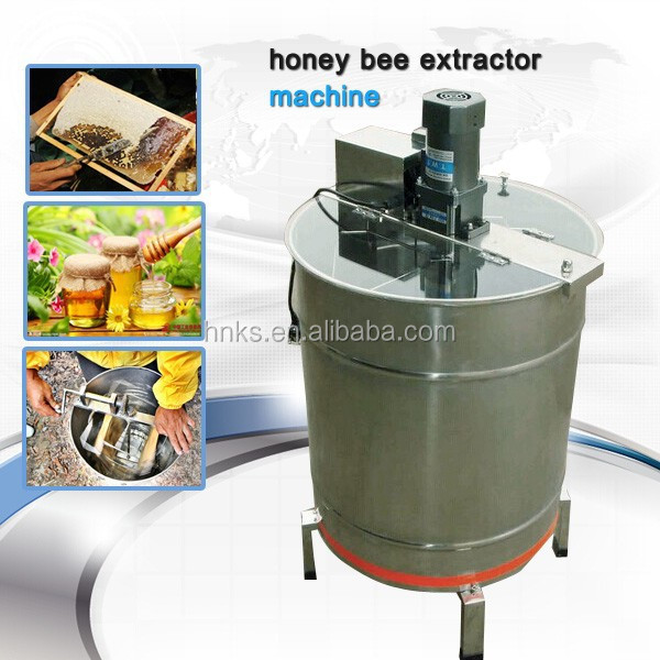 6 frame electric beekeeping machine honey bee extractor