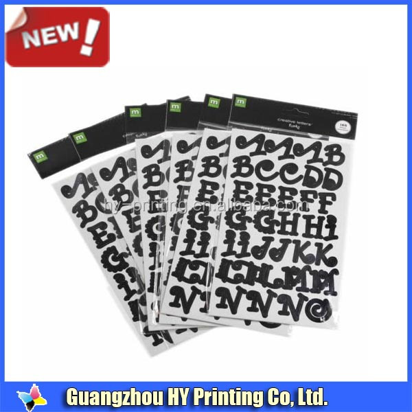 custom mini paper adhesive letters stickers