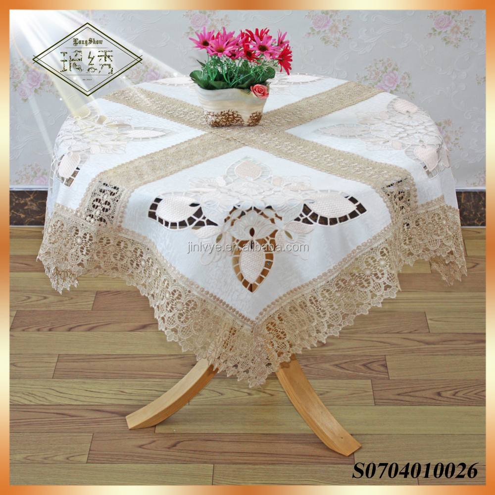 western cutwork sequin embroidery tablecloth
