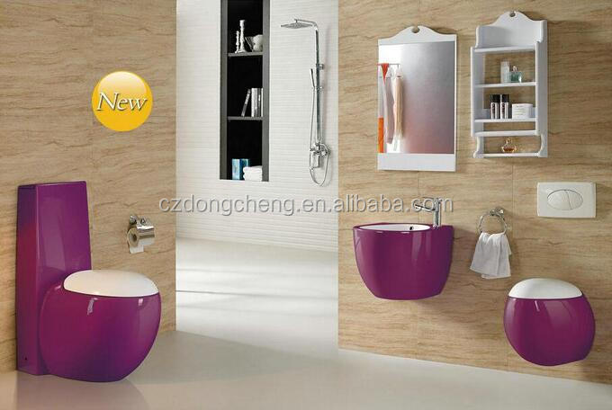 New coming Bathroom Ceramic colour toilet set bathroom set sanitary fitting