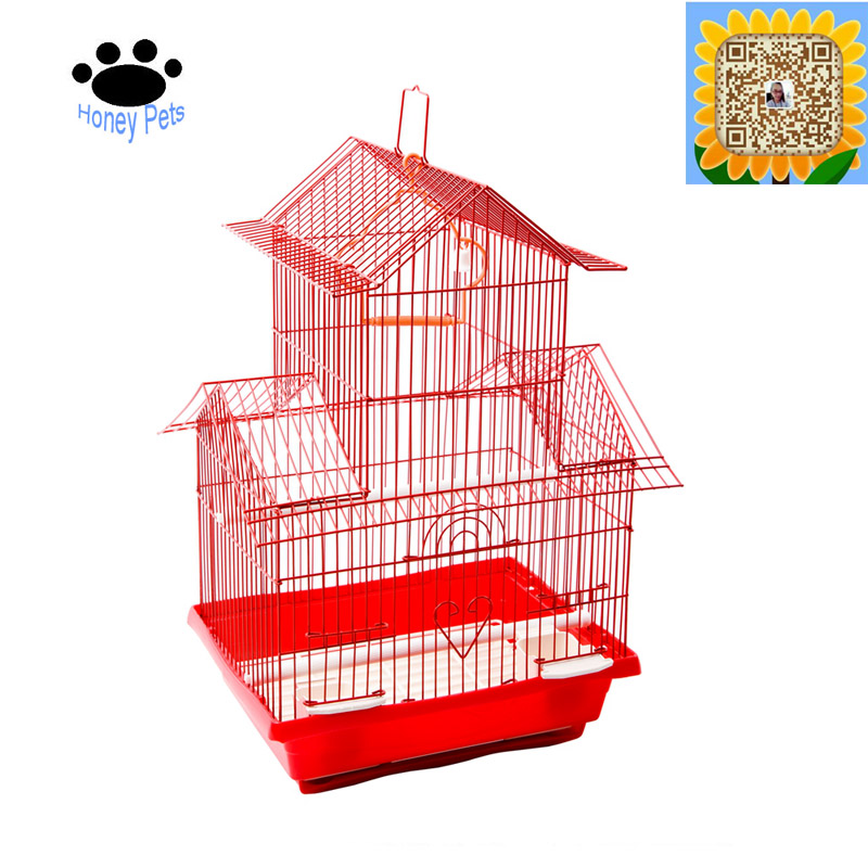 Powder coated wire bird cages for finches