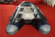 new design V shape bottom low pressure air floor inflatable boat