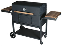 bbq Charcoal Grill with front table and side handle