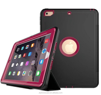 Triple foldable stand book leather flip cover for New iPad 9.7' 2017 iPad smart case full protective dustproof case