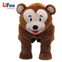 latest coin operated walking animal stuffed scooter for children