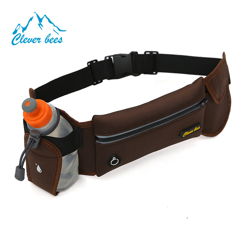 Running Sport Waist Pack Holder Travel Belt Water Bottle Pouch Holder Bag Waist Bag for Mobile Phones
