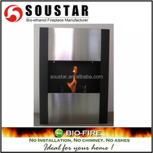 Modern home decor easy installation wall inserted corner fireplaces
