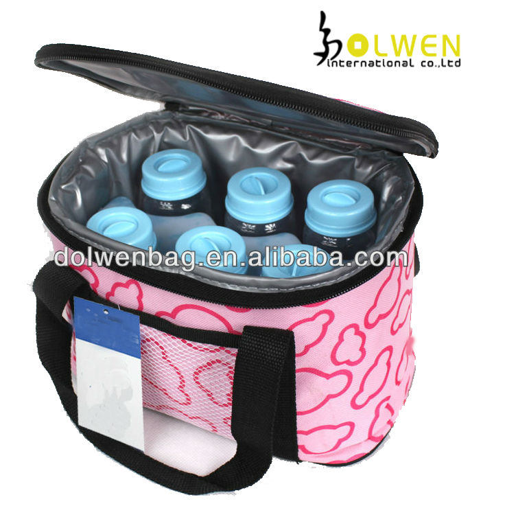 Customized 6 Can Milk Cooler Bag