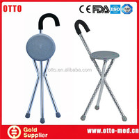 folding chair cane Foldable walking cane seat