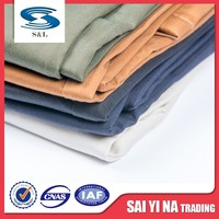 Organic raw cotton clothing polyester cotton blend fabric cloth material