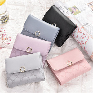 Korean Soft Leather Lady Elegance Purse Fashion Women Short Mini Wallet