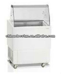 Ice Cream Scoop Freezer with curved glass front, Stylish and Affordable,