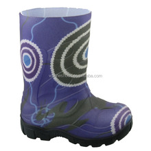 kids injection pvc rain boots warm rain boots fur wellingtons boots compitition rain boots