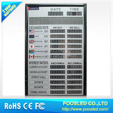 foreign currency board sign \ currency signage billboard \ currency rate screen sign