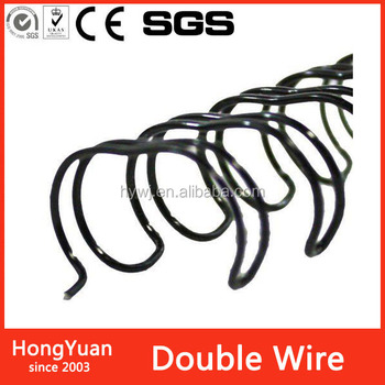 special color nylon coated binding twin loop double wire for calendar