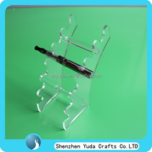 made in china transparent lucite e-cigs rack clear acrylic e-cigarettes holder stand cheap price fast delivery ODM best selling
