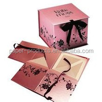 newest foldable paper gift case with manufacturer price