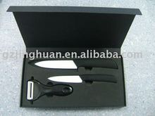 3 pieces wholesale ceramic kitchen knife set with anti-slip handle