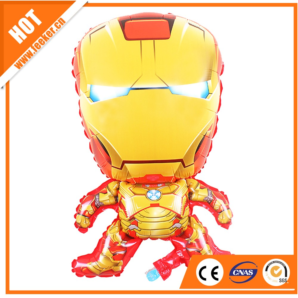 Hot saleIron man printing foil balloon/mylar , promotion balloon customized foil balloon