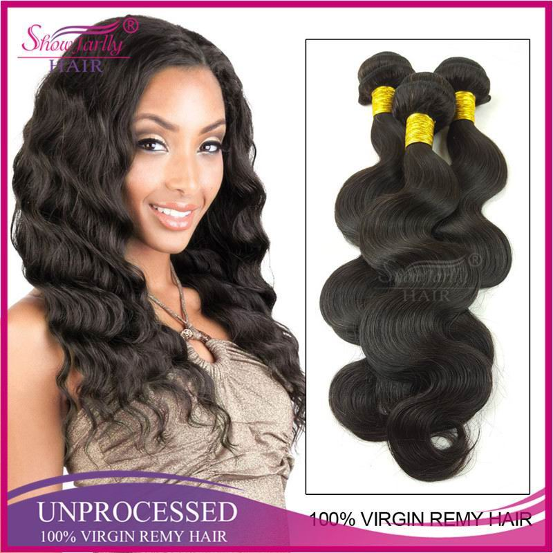 Showjarlly 9A Body weave Unprocessed Virgin indian remy hair wholesale 9A darling hair weaving bundle hair vendors