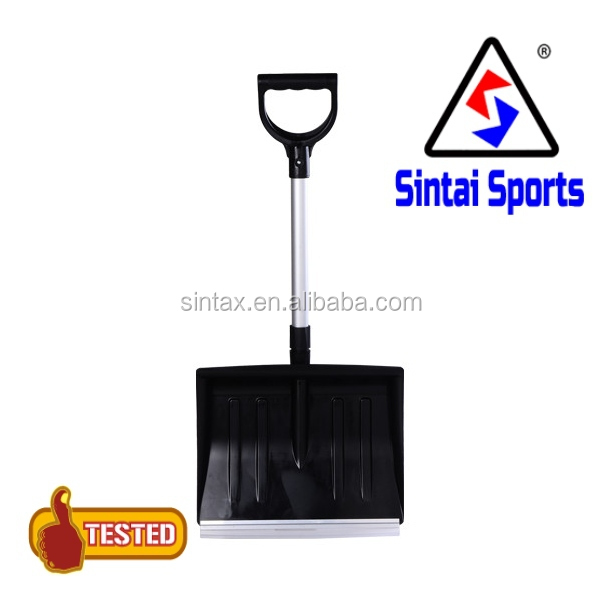 New Heavy Duty Snow Shovel Telescopic Scoop Spade Mucking With Grip Handle