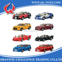 Promotional Toy Road Champs 1:43 Scale Pull Back Diecast Metal Model Car Toy With Light