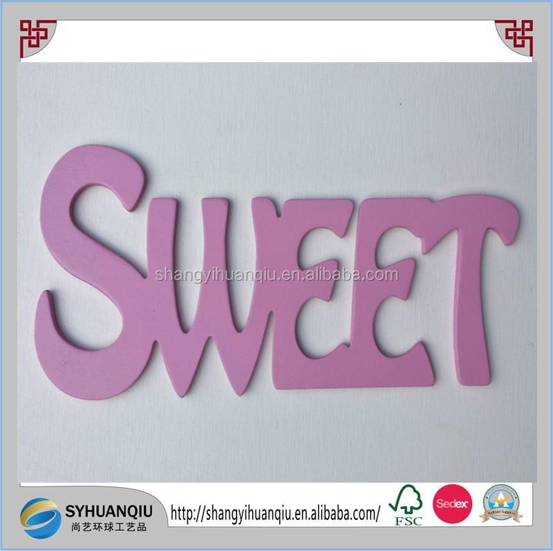 Hot Wooden Wood Letter Alphabet Word Free Standing Wedding