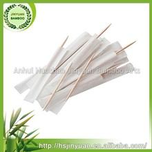 65mm disposable wrapped natural bamboo toothpick