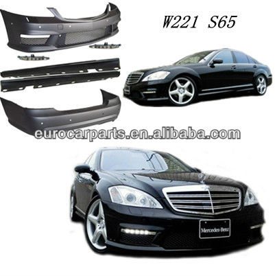 Hot sale item W221 S65 style PP body kit front bumper for BZ S-CLASS W221 06-13
