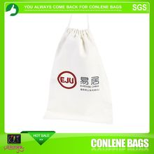 cut drawstring plain tote bag cotton with logo printing