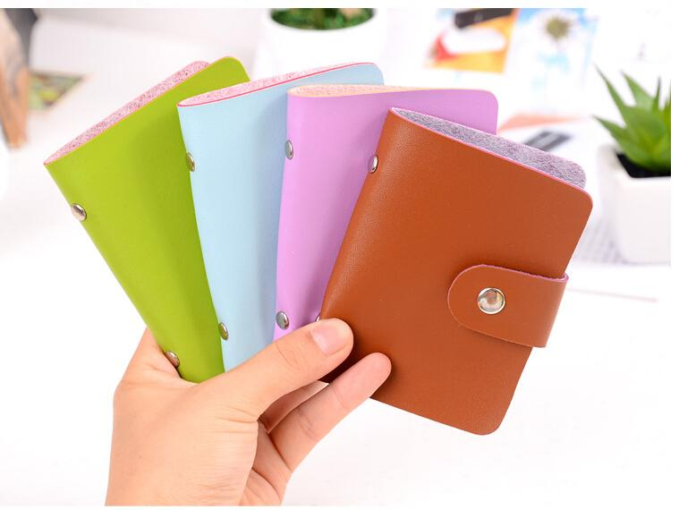 Charm in hands 2015 Business Portable Credit Card Holders High Quality Leather Bank Card Case Holder Retail / Wholesale kll066