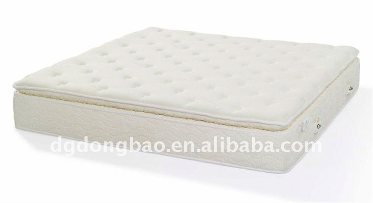 Pillow top pocket spring latex mattress - Jozy Mattress   Jozy.net