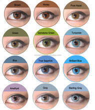 [ Meetone-FV ] new look wholesale cheap price 14.5mm yearly fresh tri tone korea coloured contact lenses