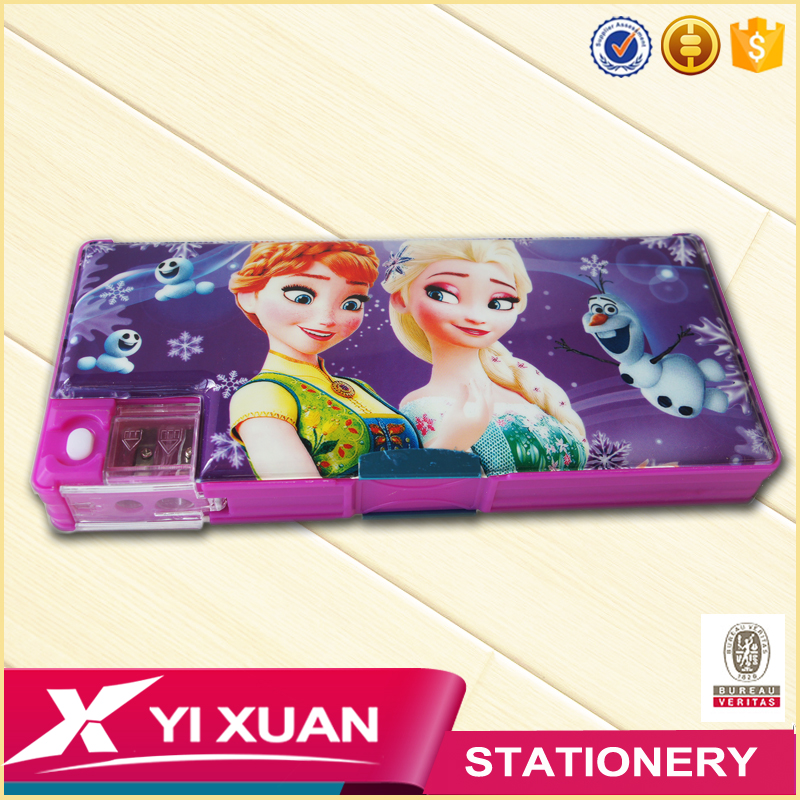 school stationery product kids cute cartoon pencil box custom printed plastic pencil case