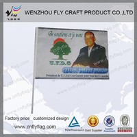 hand wave flag for sports, promotion, voting, political campaign
