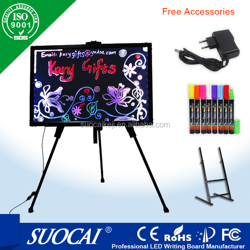 New invention 2016 led salon board for advertising