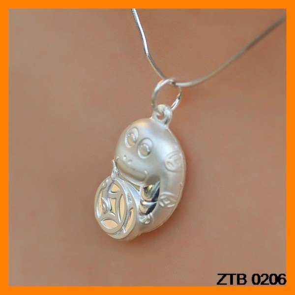 Baby Jewelry Zodiac Snake 925 Silver Necklace Pendant Wholesale ZTB 0206