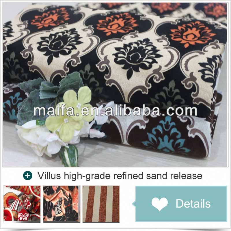 Latest curtain designs 2015 Shaoxing fabric for upholstery fabric turkey for living room