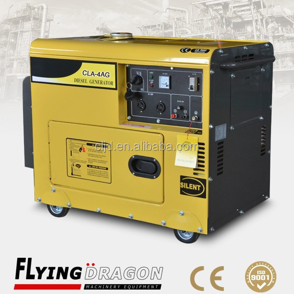 high quality home generator 4kw silent type gensets diesel 5kva