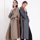 High Quality Ladies Wool Double Breasted Women Long Overcoat Winter