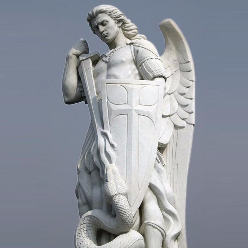 life size marble archangel michael statue large stone angel chatolic