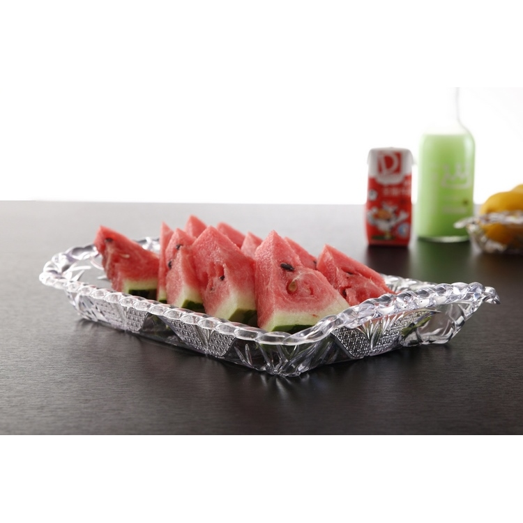 Custom Design mutilcolors plastic fruit tray rectangle plastic transparent tray