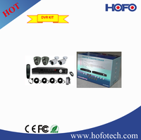 home cctv kit: 4 PCS 960H, 800TVL CAMERA + 1pc 4 Channels D1 DVR CCTV Surveillance System