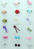 100% handmade working job for satin ribbon garments flower